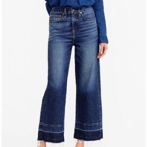 J. Crew Point Sur Wide Leg High Waisted Jeans 30